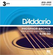 D'Addario EJ16-3D Phosphor Bronze